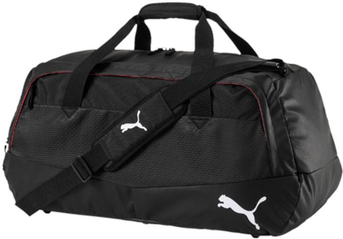 Сумка спортивная Puma Evo Training 1 Medium Bag, цвет: черный, 63 х 33 х 30 см. 0749060107490601Стильная и функциональная спортивная сумка Puma Evo Training 1 Medium Bag выполнена из прочного текстиля. Сумка имеет одно отделение на молнии. Снаружи расположены два кармана на молнии. Имеются регулируемый плечевой ремень и удобные ручки.