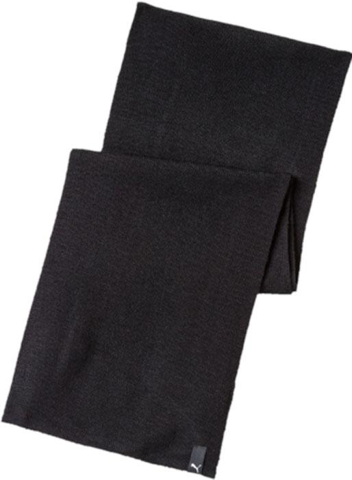 Шарф Puma Knit Scarf, цвет: черный. 05325601. Размер 20 х 80 см05325601Удобный однослойный вязаный шарф украшен тканым ярлыком с логотипом Puma.