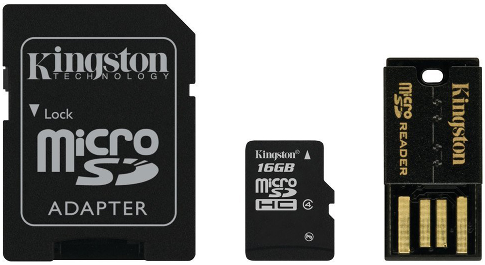 Kingston Mobility Kit MBLY4G2 карта памяти microSDHC 16GB + адаптер + USB-ридер - Карты памяти