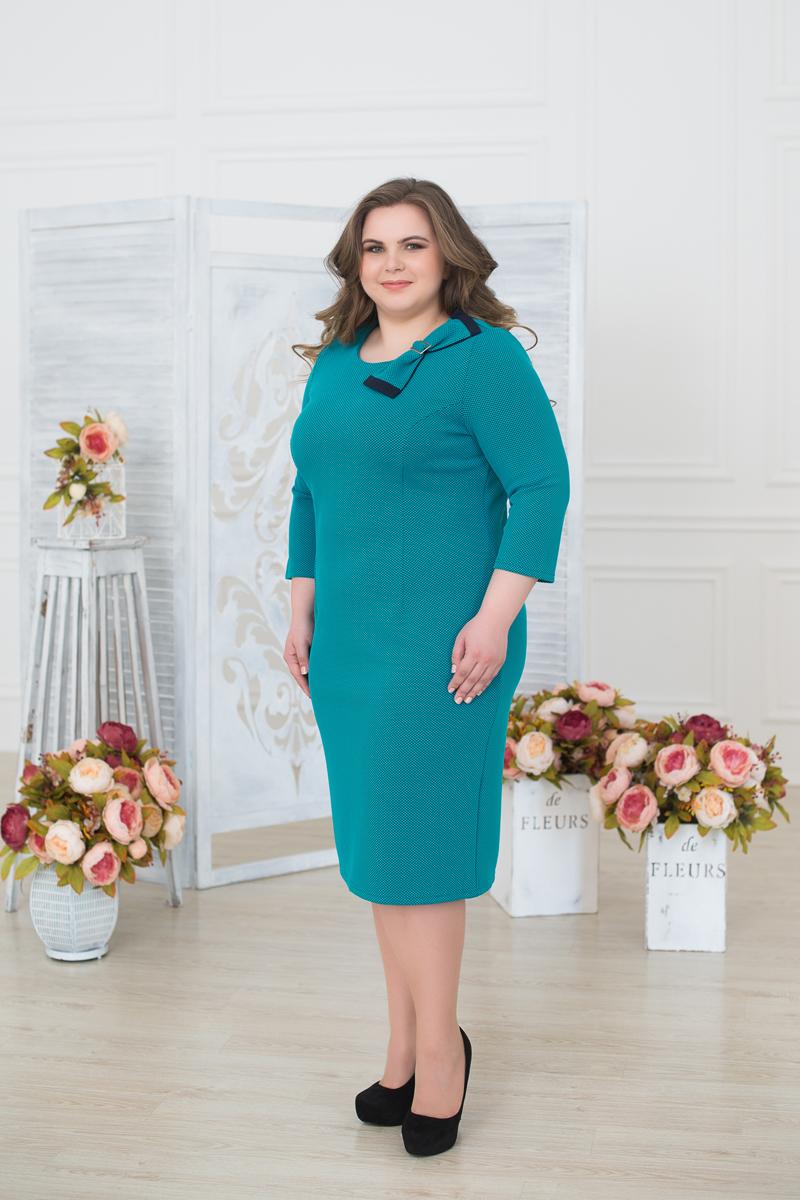 Платье женское Fill, цвет: бирюзовый . ФИЛ-249032. Размер 58ФИЛ-249032Яркая модель сделает Ваш образ неотразимым, подчеркнет особенности бюста, так же подойдет как для обычной прогулки, так и для похода в ресторан.