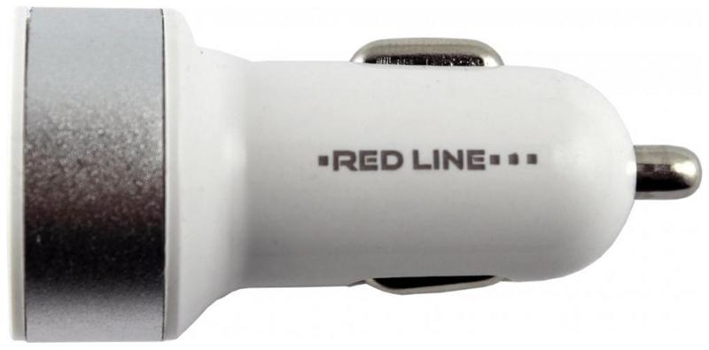 Red Line C19, Silver White автомобильное зарядное устройствоУТ000010414Автомобильное зарядное устройство Red Line C19 имеет два разъема USB, что дает пользователям возможность заряжать несколько гаджетов одновременно. Особенно полезным этот маленький девайс будет в путешествии, когда нет возможности зарядить мобильный от сети. Рассматриваемая модель очень проста в использовании: достаточно лишь подсоединить ее к прикуривателю авто, и она будет готова к работе.
