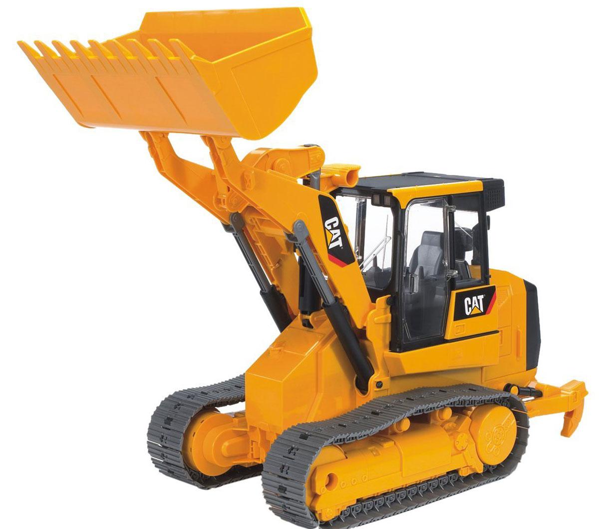 Bruder Погрузчик гусеничный Cat с ковшом машины bruder погрузчик roadmax с ковшом и разрыхлителем