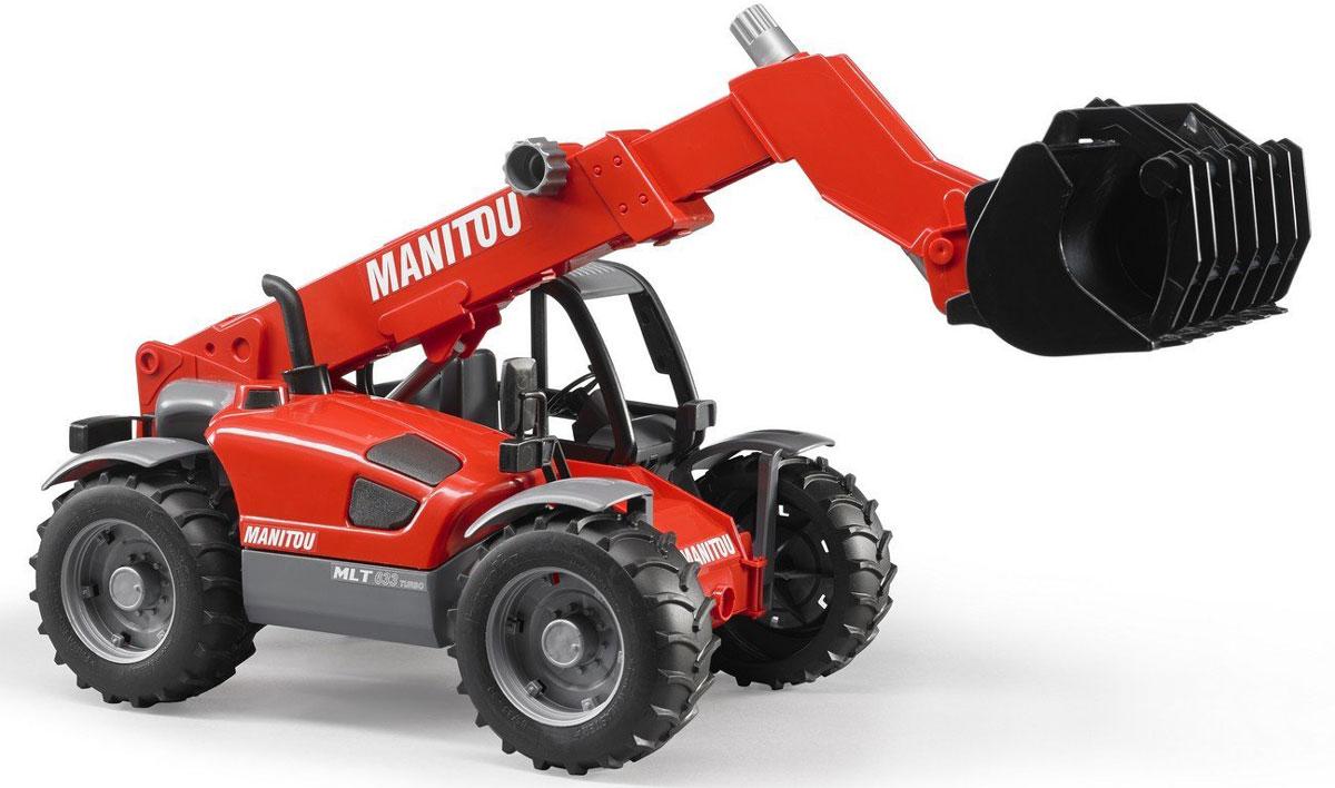 Bruder Погрузчик колесный Manitou MLT 633 с телескопическим ковшом машины bruder погрузчик roadmax с ковшом и разрыхлителем