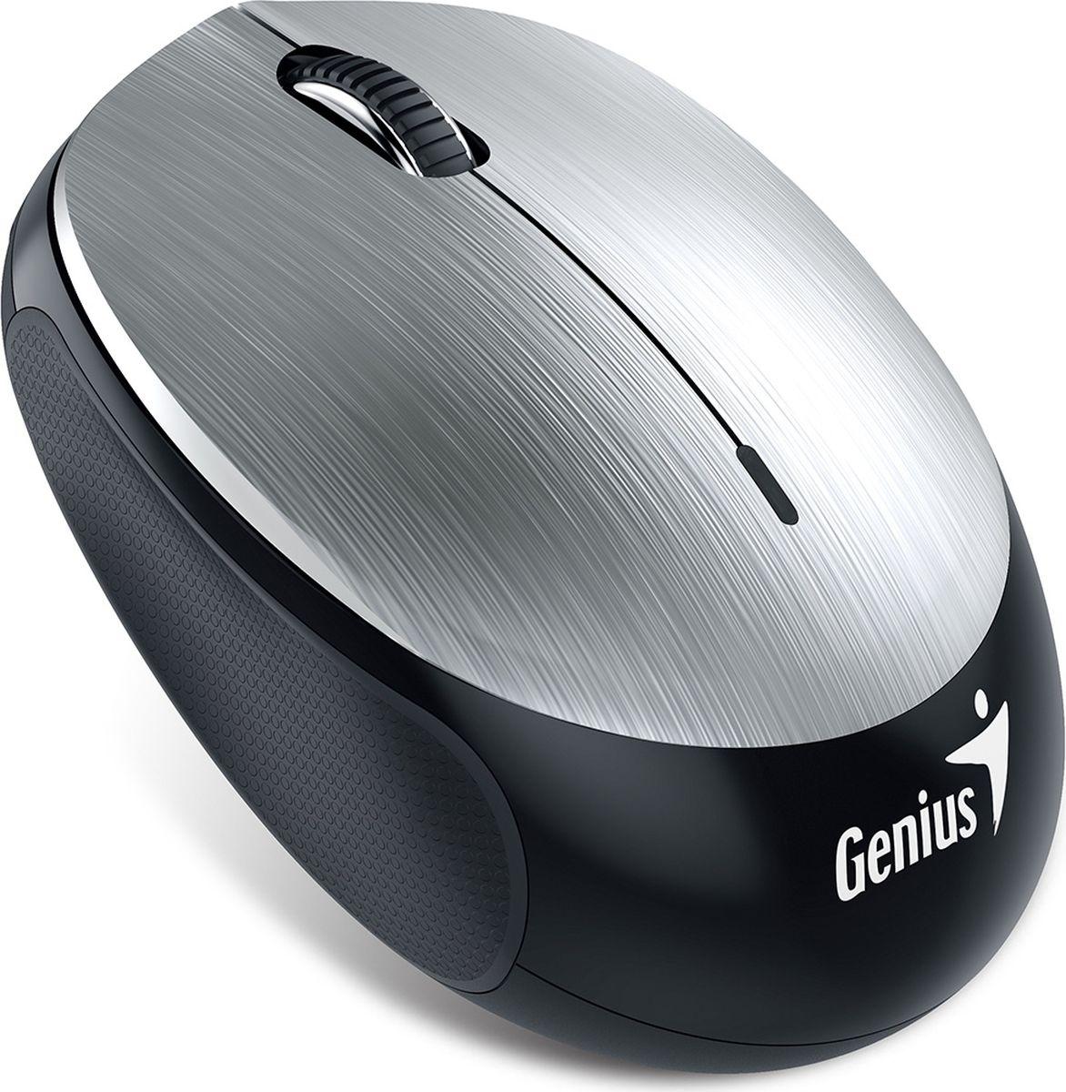 Genius NX-9000BT V2, Silver мышь беспроводная31030299102Мышь Genius NX-9000BT V2 оснащена встроенным литий-полимерный аккумулятором емкостью 320 мАч избавляет от необходимости пользоваться батарейками типоразмера AA и другими сменными батарейками. Просто подключите кабель микро-USB к порту USB компьютера или дополнительного внешнего аккумулятора. Интеллектуальная мышь Genius NX-9000BT V2 определяет, когда не используется, и эффективно управляет питанием, продляя срок службы аккумулятора. После полной зарядки пользоваться устройством можно не менее 4 недель. Благодаря усовершенствованной технологии Bluetooth 4.0 вы получаете надежное и безопасное подключение на расстоянии до 10 метров. Отсутствие проводов позволяет лучше сосредоточиться на работе. Мышь стильная и тонкая, гладкая на ощупь. Сверху удобное прорезиненное покрытие для полного контроля и комфорта при длительном использовании. Работает на любой поверхности, которую только можно себе представить.