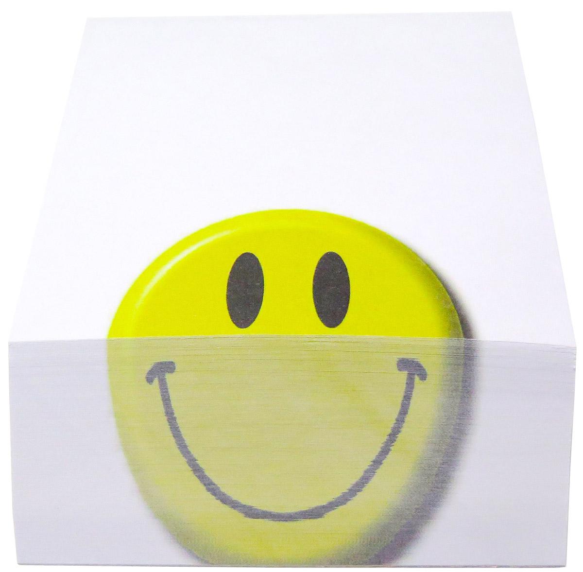 Фолиант Блок для записей Смайлик 9 х 11 см 300 листовБКД-300А10Блок бумаги Фолиант Смайлик идеально подходит для быстрой фиксации информации. Блок бумаги выполнен с декоративным срезом, с проявлением отпечатанного изображения на торце.Блок бумаги изготовлен на картонной подложке, листы проклеены по торцу. Благодаря специальной проклейки, листы блока не рассыпаются. Порядок на столе гарантирован. Печать на листах добавит вам хорошего настроения. Особенности - наличие декоративного среза; листы склеены в блок.
