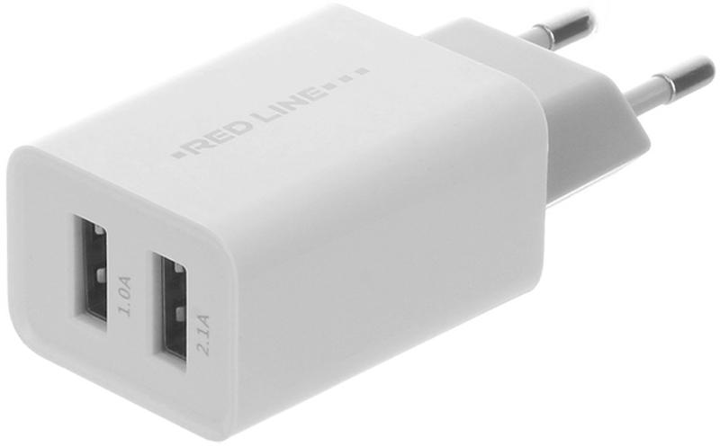 Red Line Z2 Lux, White сетевое зарядное устройствоУТ000010357Сетевое зарядное устройство Red Line Z2 Lux предназначено для использования с кабелем (приобретается отдельно) для подзарядки сотового телефона,планшетного компьютера, смартфона, плеера или любого другого совместимого устройства. Red Line работает от сети переменного тока. Данная модель станет отличным вариантом на замену штатного адаптера поставляемого в комплекте с устройством в ситуации, когда тот вышел из строя или же был утерян. Благодаря наличию двух разъемов USB возможна одновременная подзарядка двух устройств.