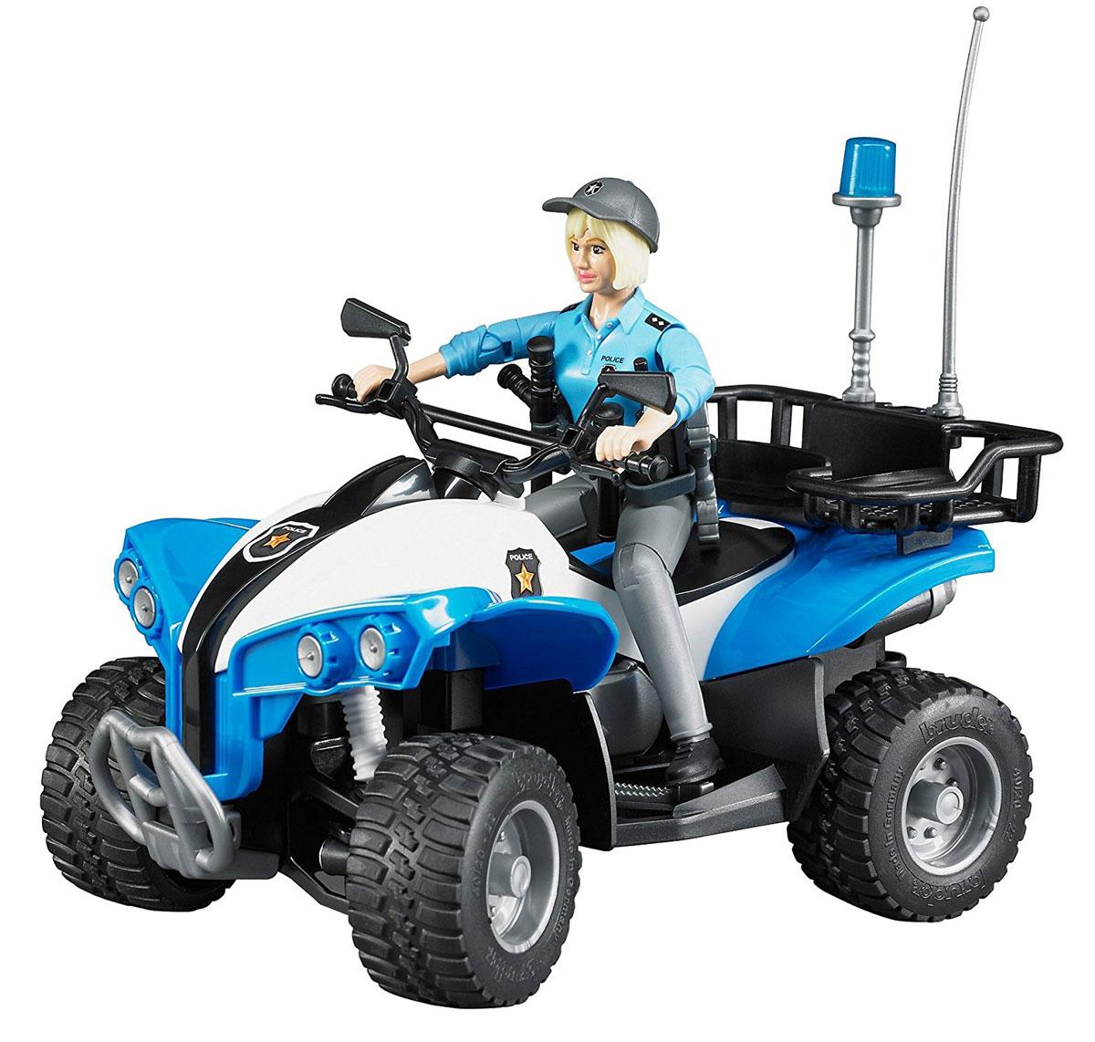 Bruder Полицейский квадроцикл с фигуркой амортизатор зид пилот передний