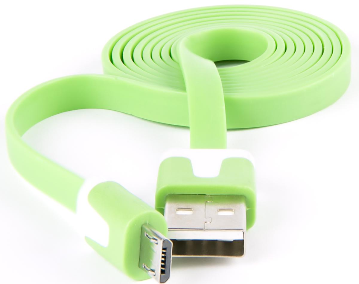 Red Line, Green кабель USB-Micro USB (1 м)УТ000010364Кабель Red Line предназначен для передачи данных между персональными компьютерами и смартфонами, планшетами, MP3-плеерами и прочими устройствами с портом microUSB. Кроме того, его можно подключить к адаптеру питания USB, чтобы зарядить устройство от розетки.