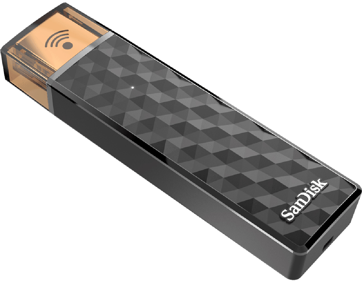 SanDisk Connect Wireless Stick 128GB, Black беспроводной USB-накопитель microsoft wireless display adapter v2 беспроводной usb hdmi адаптер