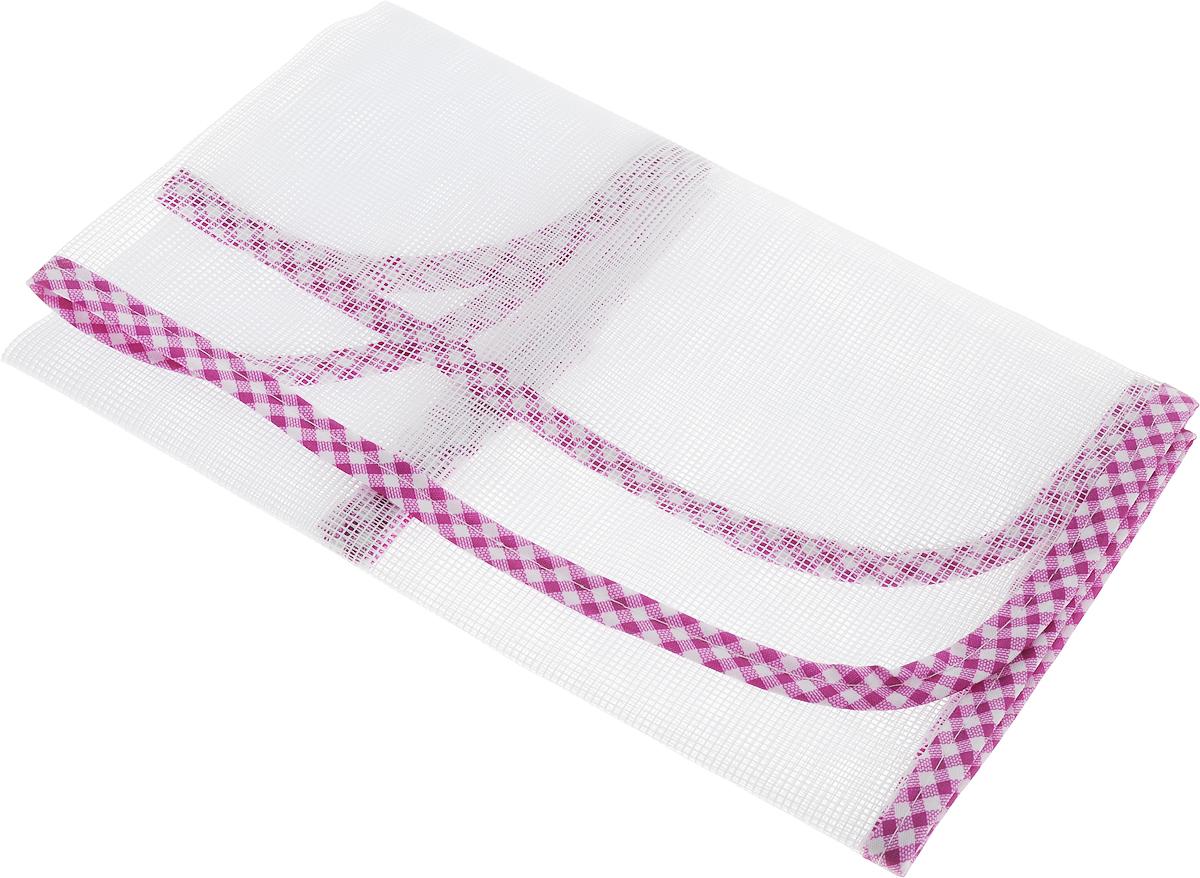 Сетка для глажения Хозяюшка Мила Silk & Wool, цвет: сиреневый, белый, 35 х 90 см47002_сиреневый, белыйСетка для глажения Хозяюшка Мила Silk & Wool выполнена из 100% лавсана.Изделие подходит для одежды из шелка, шерсти и трикотажа. Прекраснаясовременная альтернатива марлевой тряпочке, которую использовали наши мамыи бабушки. Аккуратная сетка с оптимальным размером плетения станетнезаменимым помощником при глажке белья. Сетка защищает белье отприжигания, исключает контакт горячего утюга с тканью, позволяет быстро ировно сделать стрелки на брюках. Предназначена для температурного режимаSilk & Wool.