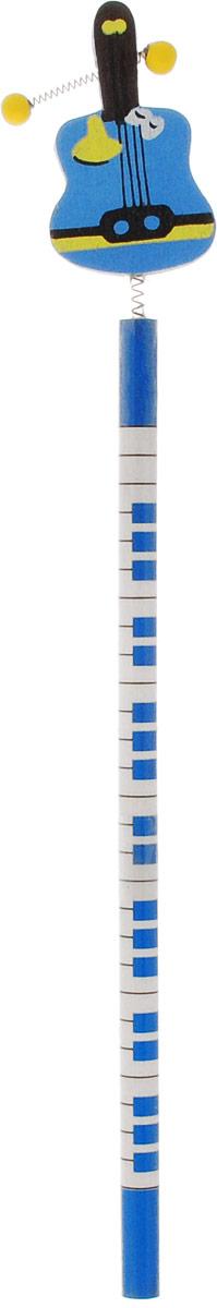 Карамба Карандаш чернографитный Музыкальные инструменты Гитара2316_синийЗабавный, ярко окрашенный деревянный карандаш с фигуркой музыкального инструмента на пружине привлечет внимание вашего ребенка.