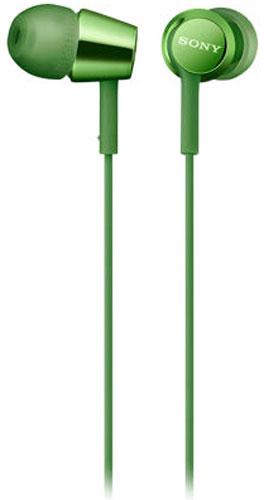 Sony EX155AP, Green наушникиMDREX155APG.EНаушники-вкладыши Sony EX155AP обеспечивают отличный динамический звук даже на ходу.Высокочувствительные 9-миллиметровые динамики в компактном корпусе обеспечивают четкое звучание верхних частот и мощные басы.Отвечайте на звонки в режиме гарнитуры и переключайте треки, не прикасаясь к смартфону, - это возможно благодаря встроенному в кабель пульту управления и микрофону.Устойчивый к спутыванию и перекручиванию рифленый кабель обеспечивает комфорт при использовании наушников.Вкладыши четырех размеров (SS, S, M и L) позволяют адаптировать наушники под свои потребности для максимально комфортного прослушивания на ходу.