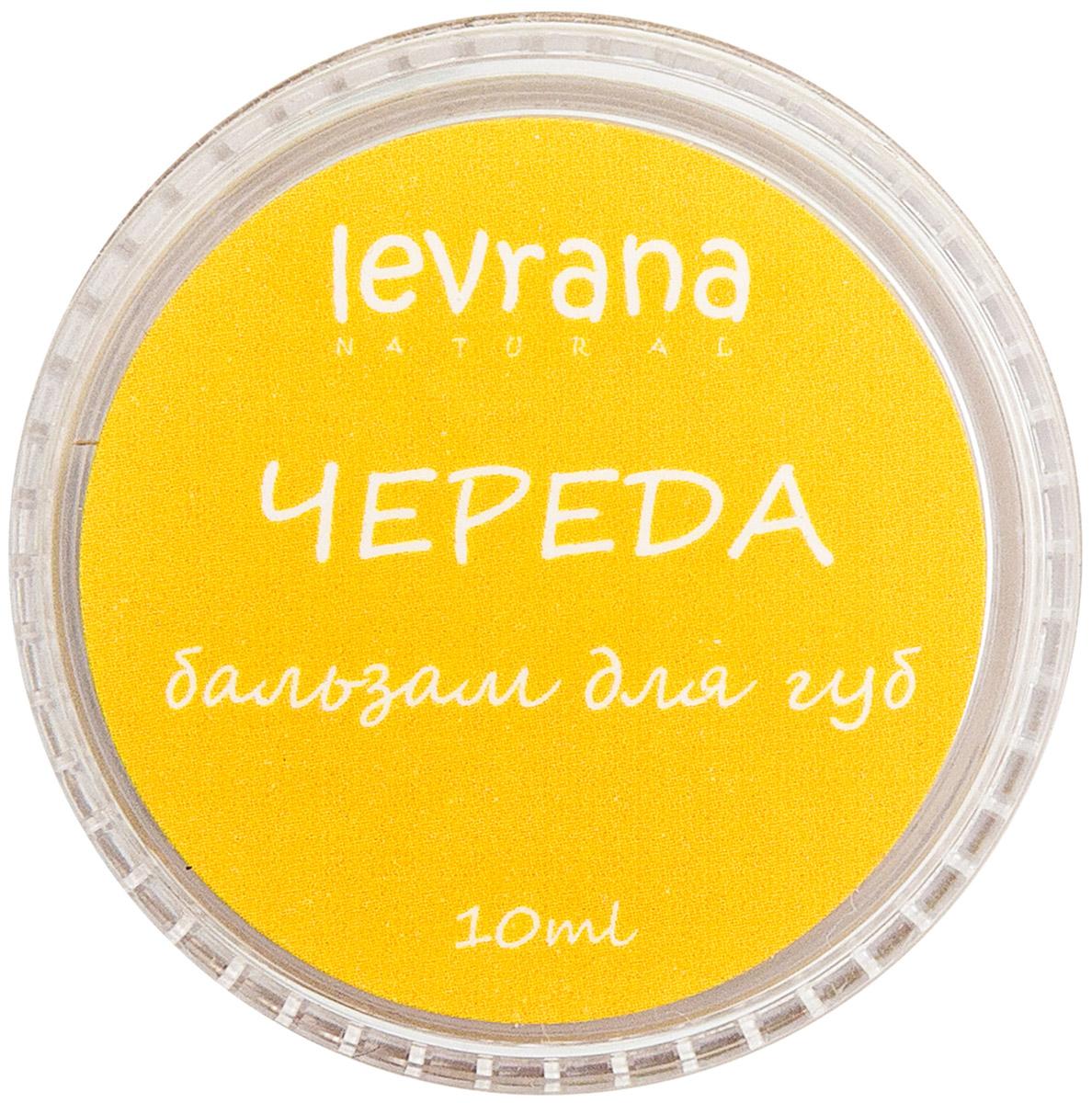 Levrana Бальзам для губ Череда, 10 гLB05Бальзам для губ Череда с тыквенным маслом и витамином Е.Нежная кожа губ нуждается в особом уходе, ведь она очень сильно подвержена воздействию окружающей среды.Бальзам для губ обогащен ценнейшим тыквенным маслом, в состав тыквенного масла входит комплекс веществ, обладающий бактерицидными, противовоспалительными, антисептическими, обезболивающими, противоаллергическими и ранозаживляющими свойствами (витамины А, Е, витамины группы B, фитостеролы, флавоноиды, полиненасыщенные жирные кислоты, хлорофилл).Бальзам для губ это ежедневная профилактика старения кожи губ.