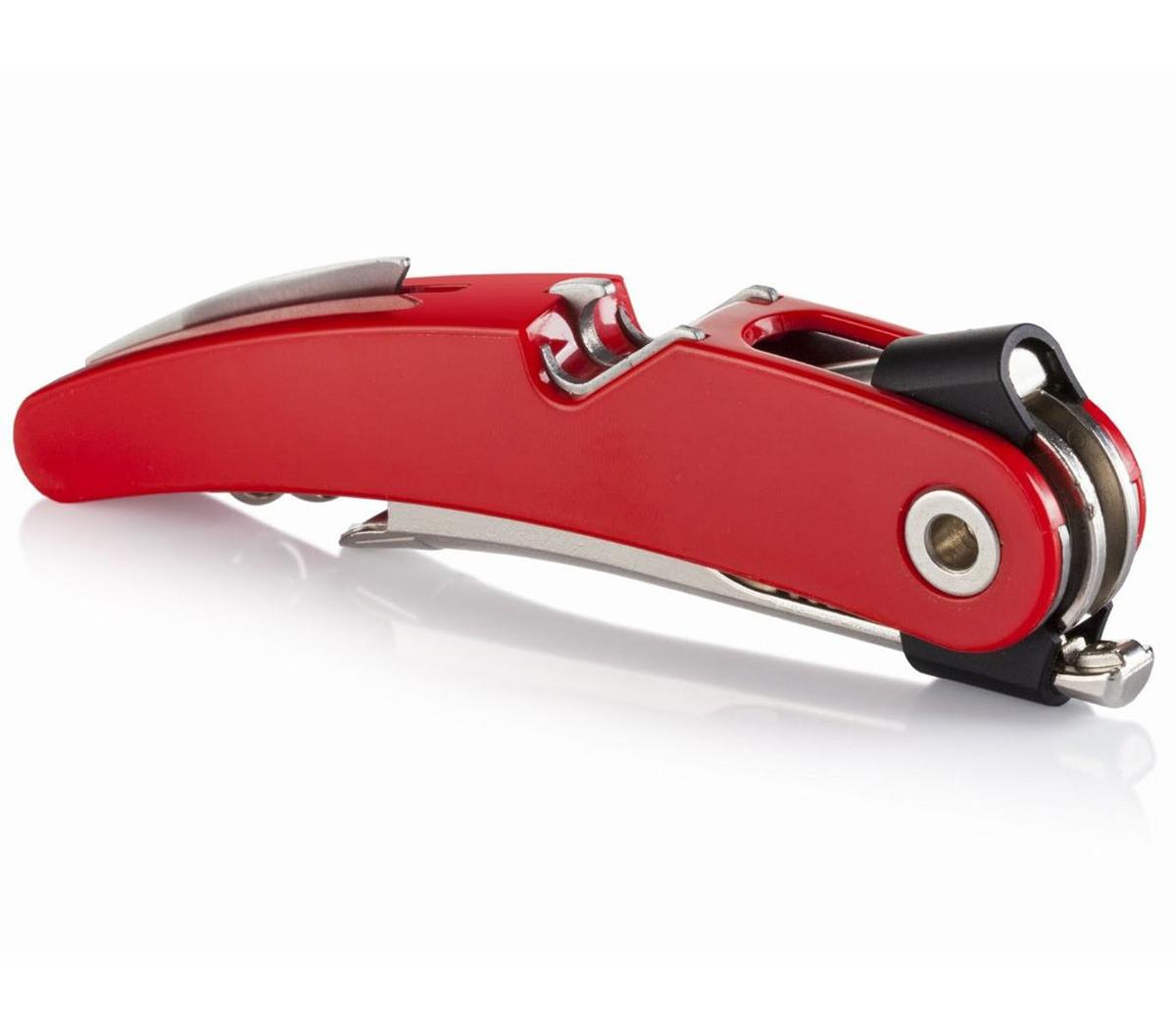 Штопор VacuVin Single Pull, цвет: красный, серебристый vacuvin штопор официанта waiters corkscrew черный