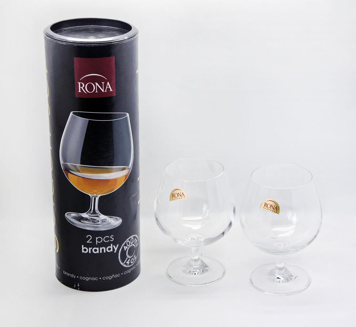 Набор бокалов для бренди Rona, 400 мл, 2 шт2570/0/400Бокалы Rona – это сочетание высочайшего качества исполнения, широкого ассортимента изделий и доступных цен. Богемское выдувное стекло, производящееся в Словакии, известно и востребовано во всем мире. Элегантные бокалы, украсят застолье и помогут создать праздничную атмосферу.
