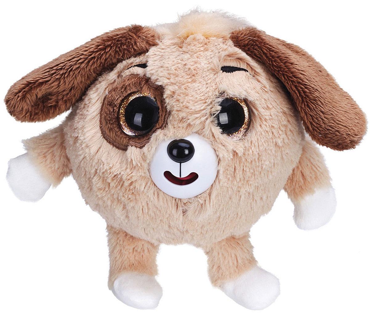 1TOY Мягкая озвученная игрушка Дразнюка-Zooка Собачка цвет коричневый 13 см малышарики мягкая игрушка собака бассет хаунд 23 см