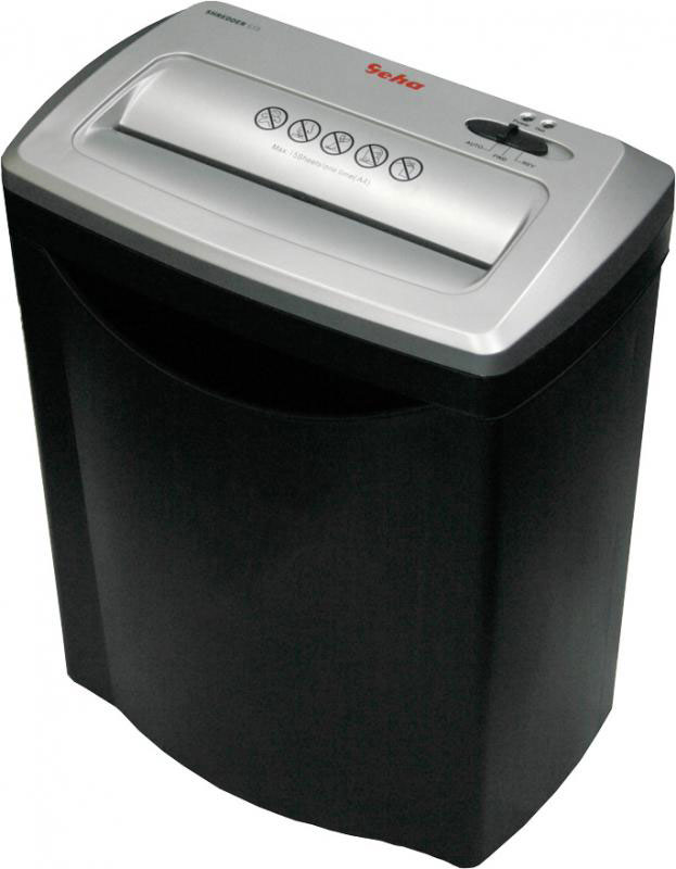 Geha S15 Premium шредер86040759Уничтожитель бумаг Geha S15 Premium — простое и надежное решение для дома или малого офиса. Он нарезает поданные листы на фрагменты 7x30 мм, гарантируя сохранность конфиденциальных данных.Режущий механизм способен преодолеть мягкие канцелярские металлы, часто присутствующие в документах — скобы и скрепки не станут помехой процессу. В корзину может поместиться до 15 литров мусора, что усложнит задачу потенциальным злоумышленникам.Шредер оснащен системами автоматического реверса, автостарта при подаче материалов и индикатором перегрева. Они помогают сделать эксплуатацию модели более приятной и перекладывают контроль за процессом на технику. При отделении корзины все механизмы головного блока останавливаются, обеспечивая безопасность окружающих людей.