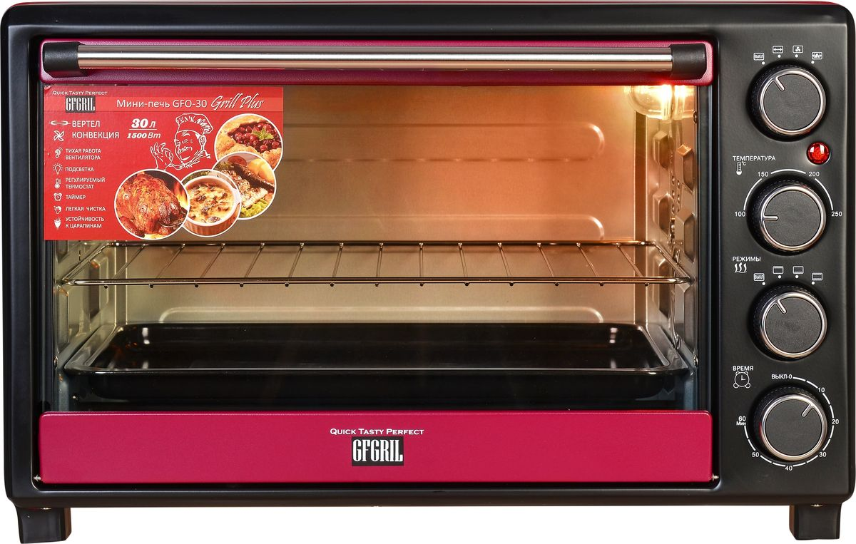 Gfgril GFO-30 Grill Plus, Red мини-печь