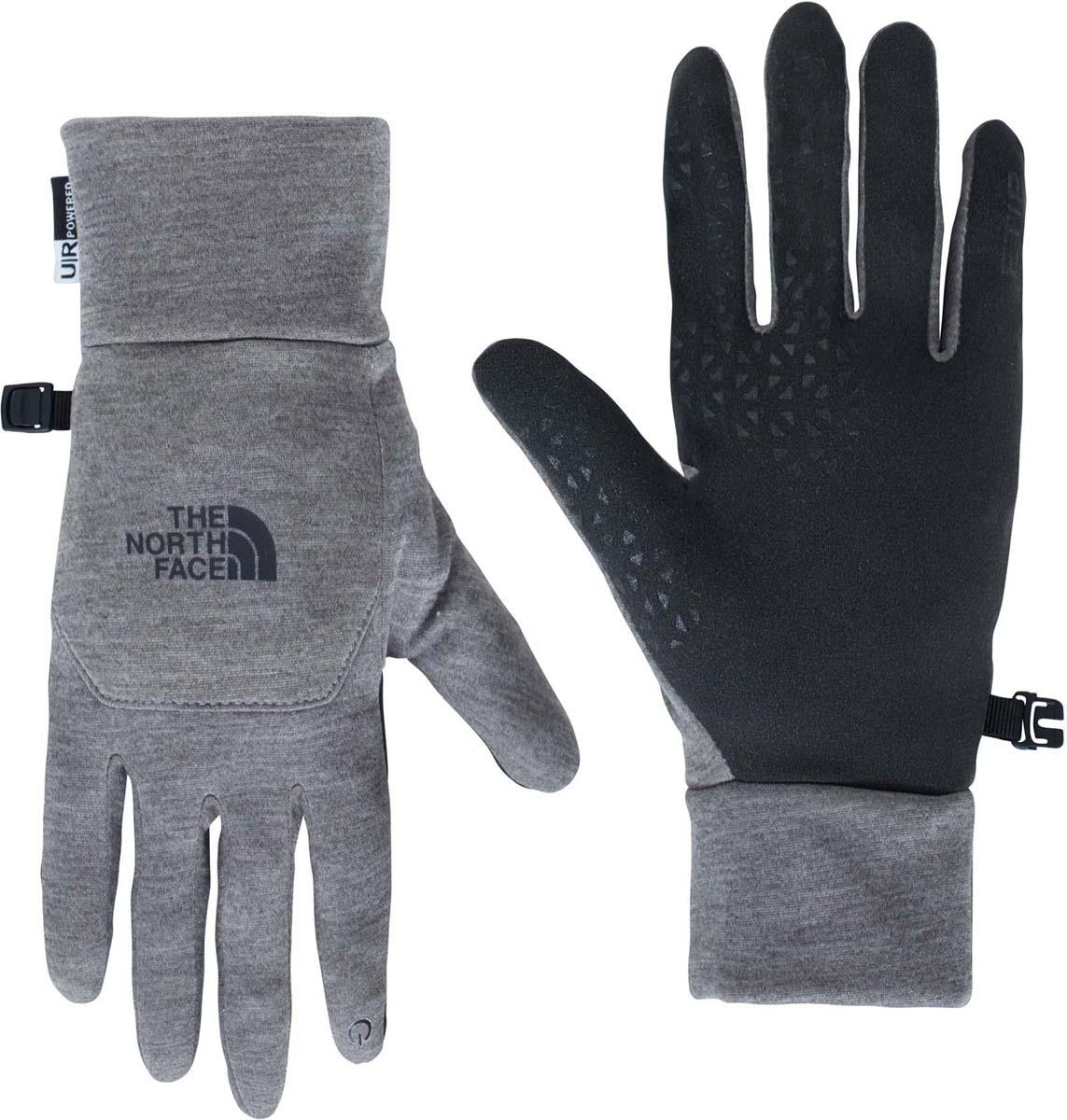 Перчатки The North Face Etip Glove, цвет: серый, черный. T0A7LNJBV. Размер XL (8,5)T0A7LNJBVThe North Face Etip Glove - универсальные перчатки с возможностью работы с тачскрином. Тянущаяся в четырёх направлениях эластичная ткань обеспечивает естественное положение кисти и чувствительность. Силиконовые накладки на ладонях для наилучшего сцепления с лыжными палками, рулем велосипеда или ледорубом. Технология U|R проводит импульс, позволяя работать с экраном смартфона всеми пятью пальцами.
