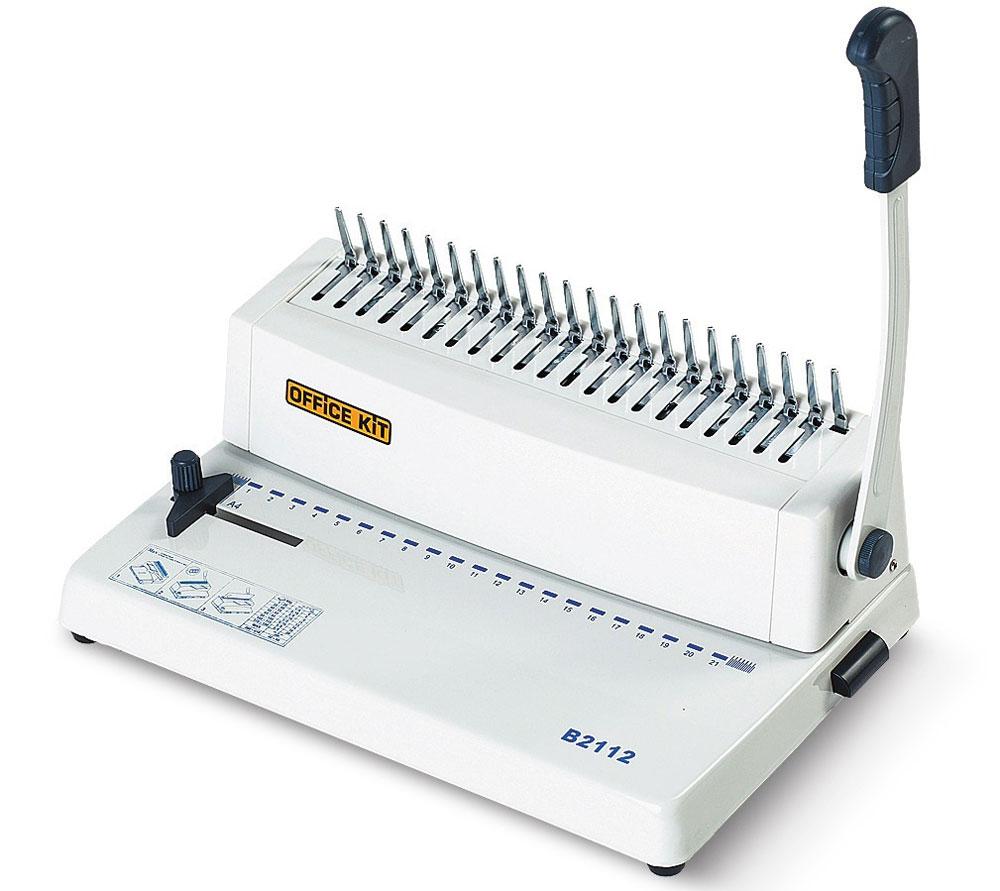 Office Kit B2112 брошюровщик брошюровщик gbc combbind 110 ручной на пластмассовую пружину 4401844 4401844