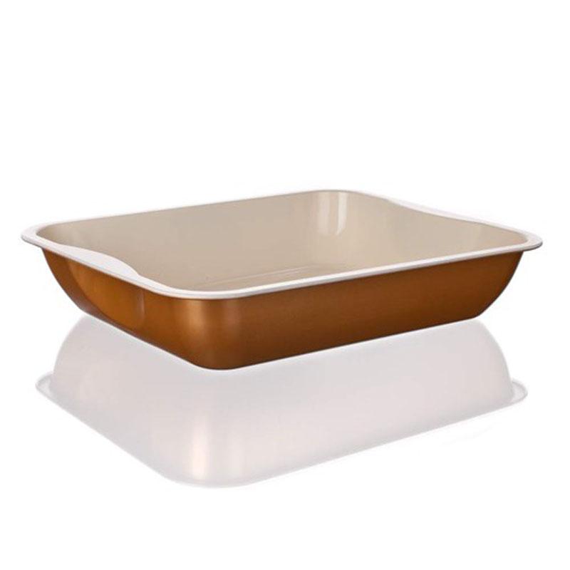 Лоток для выпечки Banquet Gourmet Ceramia, с керамическим покрытием, прямоугольный, 39,5 х 33,5 х 7,7 см19YLE231GCУдобная и практичная прямоугольная форма, компактного размера. Красивый внешний вид - можно использовать для запекания, а также сервировки стола. Металлическая форма для запекания, имеет прямоугольную форму 39,5 x 33,5 x 7,7 см, керамическое антипригарное покрытие.