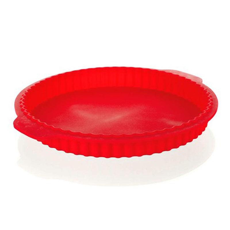 Форма для выпечки пирога Banquet, силиконовая, цвет: красный, 27 х 3,5 см3120040RФорма для выпечки пирога Banquet выполнена из силикона, благодаря этому выпечку вынимать легко и просто. Материал устойчив к фруктовым кислотам, может быть использован в духовках и микроволновых печах. Перед первым применением промойте предмет тёплой водой.В процессе приготовления используйте кухонный инструмент из дерева, пластика или силикона.Перед извлечением блюда из силиконовой формы дайте ему немного остыть, осторожно отогните края предмета.Готовьте с удовольствием!