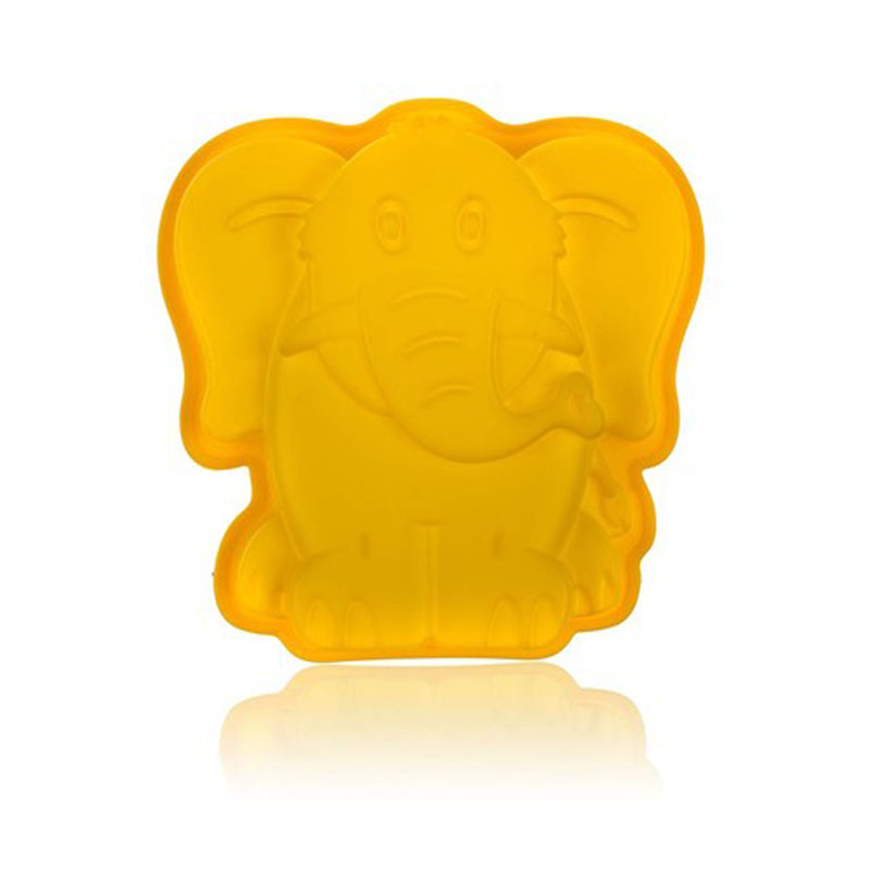 Форма силиконовая Banquet Слон, цвет: желтый, 19 х 19,6 см3122020YФорма для кекса - яркий цвет, интересный дизайн. Силикон - жаростойкий материал, размер 19x19,6 см