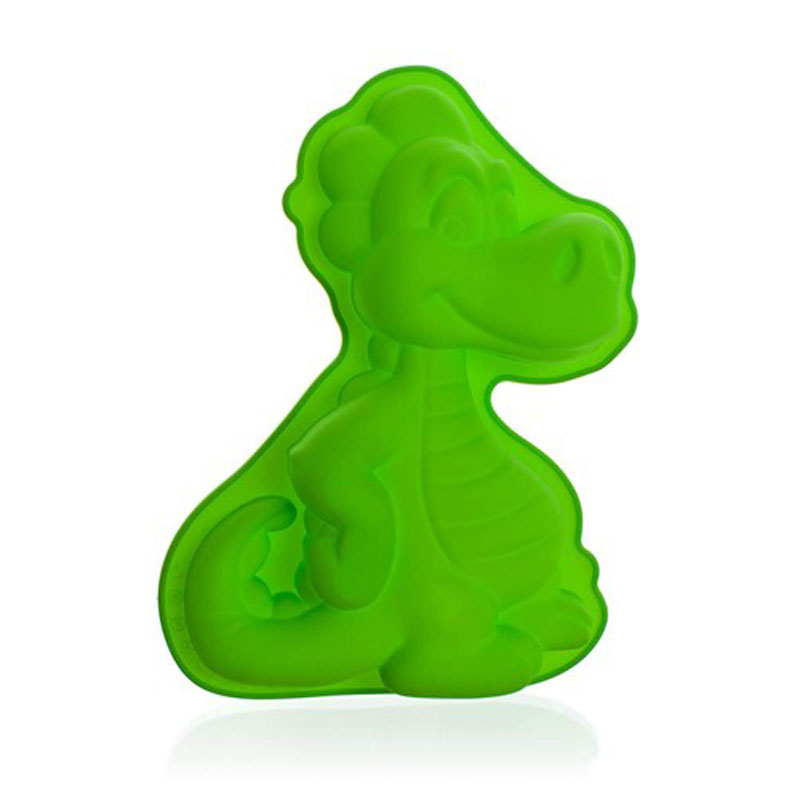 Форма силиконовая Banquet Дракон, цвет: зеленый, 24 х 17 см3122090GФорма для кекса - яркий цвет, интересный дизайн. Силикон - жаростойкий материал, размер 24x17 см