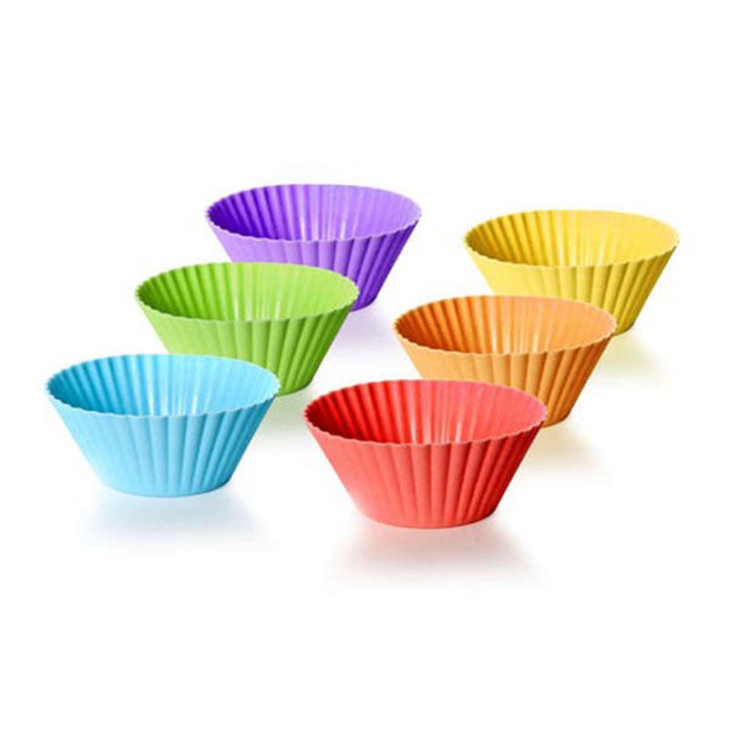 Набор силиконовых форм для выпечки Banquet, 7,5 х 3 см, 6 шт312604290Функциональные, яркие формочки для маффинов, кексов, пирожных. Яркий дизайн! Силикон - жаростойкий материал, размер 7,5*3см