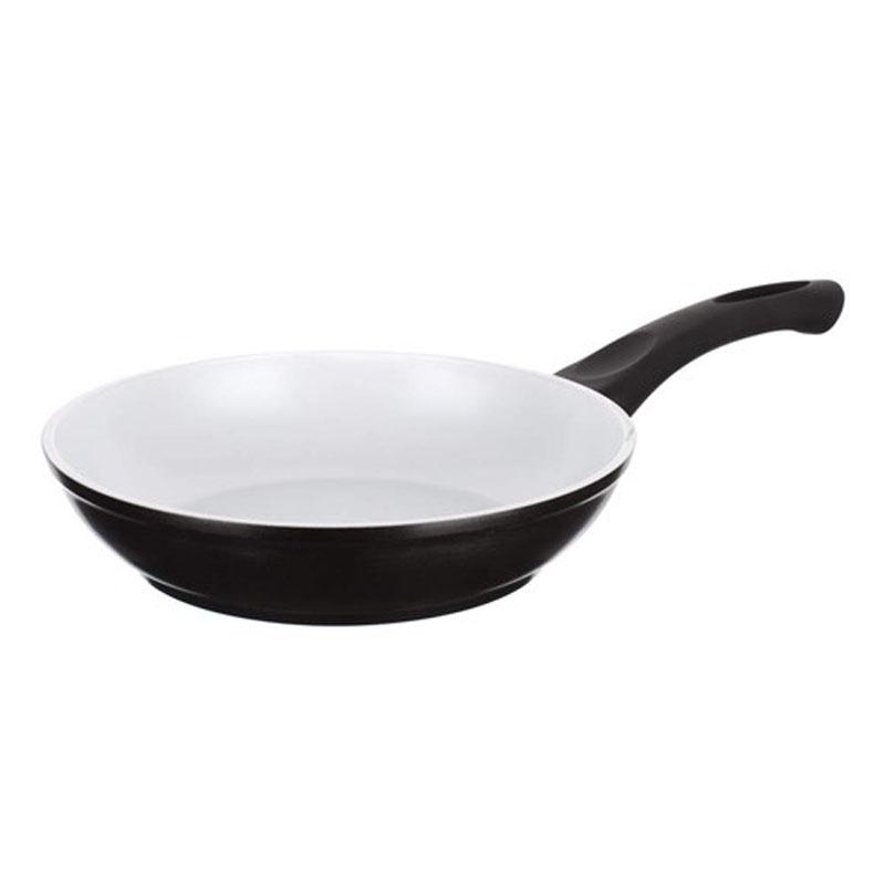 """Сковорода Banquet """"Ceramia"""" имеет алюминиевый корпус с керамической поверхностью Greblon 30-35 микрон. Для приготовления используйте  деревянные или пластиковые приборы, чтобы избежать царапин. Сковорода оснащена бакелитовой ручкой. Подходит для всех плит, включая индукционные плиты, можно мыть в посудомоечной машине."""
