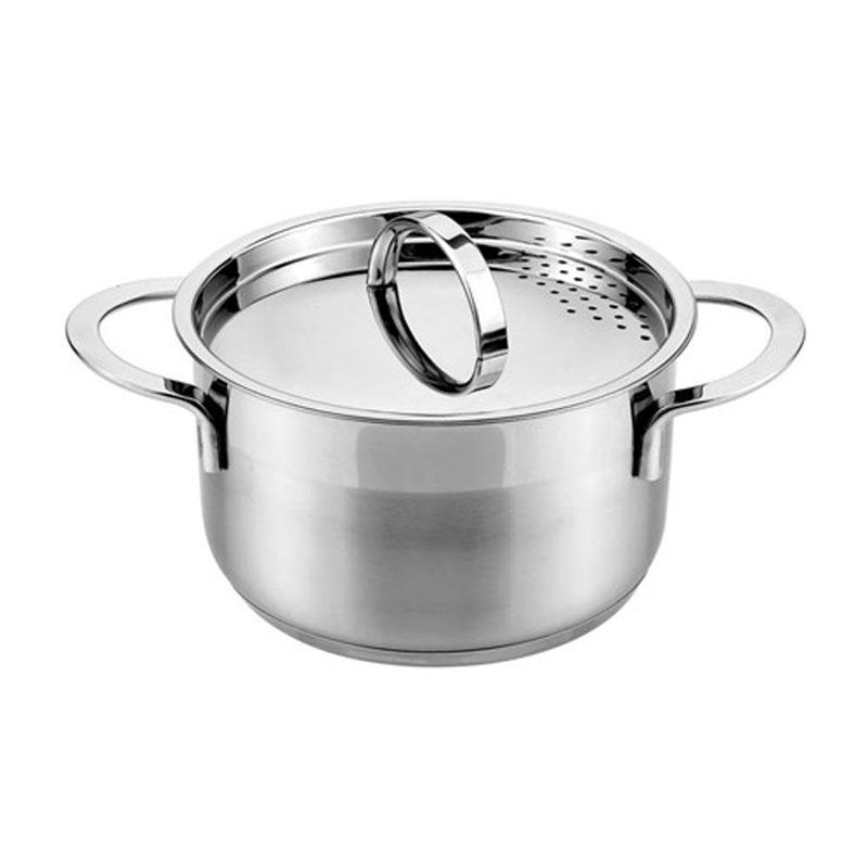 Кастрюля Banquet Cassida с крышкой, 2,65 л48RW0612H18-AКастрюля с крышкой для слива жидкости - Вам не надо беспокоиться о том, как слить жидкость при приготовлении пищи! Корпус из нержавеющей стали . Объем 2,65 л