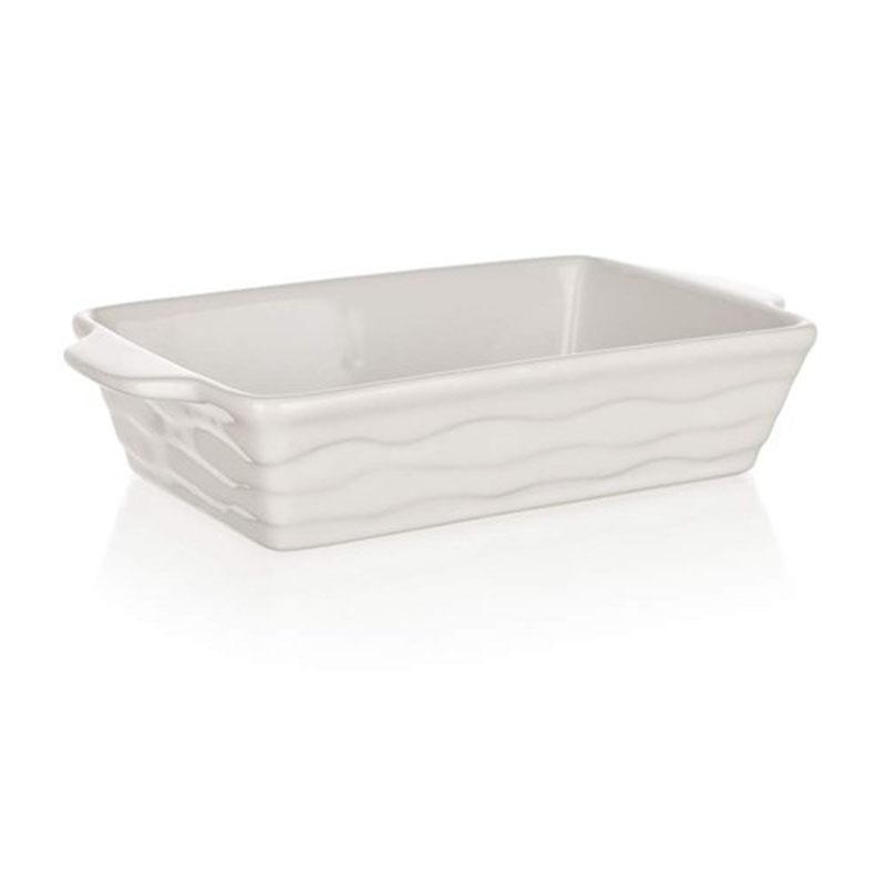 Форма для запекания Banquet, прямоугольная, цвет: белый, 20,5 х 12 см60ZF01Функциональная прямоугольная форма, красивый внешний вид - можно использовать для запекания, а также для сервировки стола. Керамическая форма для запекания, имеет прямоугольную форму 20,5*12см, цвет белый.