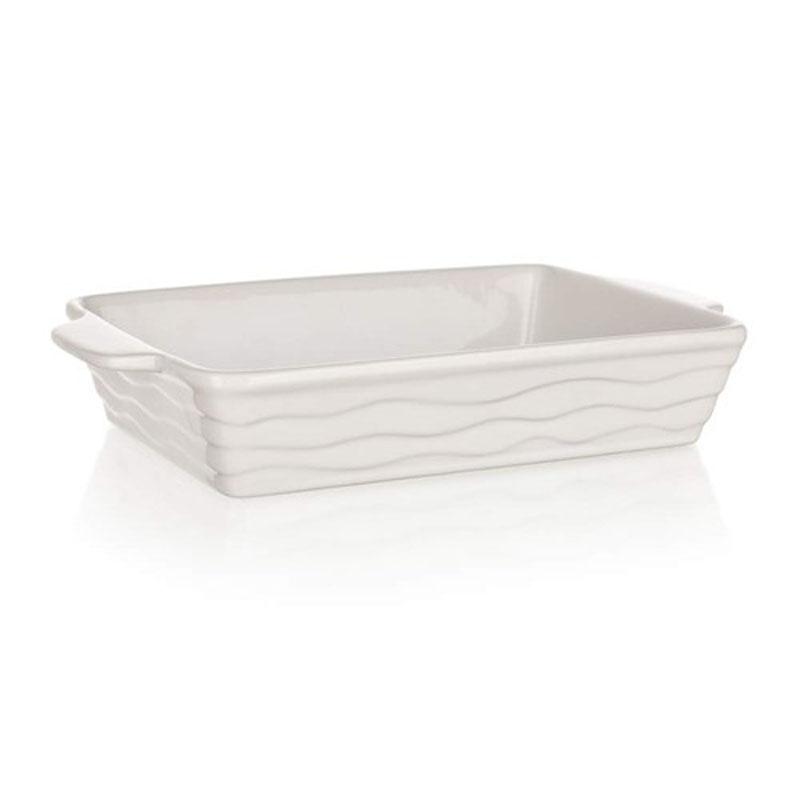 Форма для запекания Banquet, прямоугольная, цвет: белый, 24 х 14,5 см60ZF02Функциональная прямоугольная форма, красивый внешний вид - можно использовать для запекания, а также для сервировки стола. Керамическая форма для запекания, имеет прямоугольную форму 24*14,5см, цвет белый.