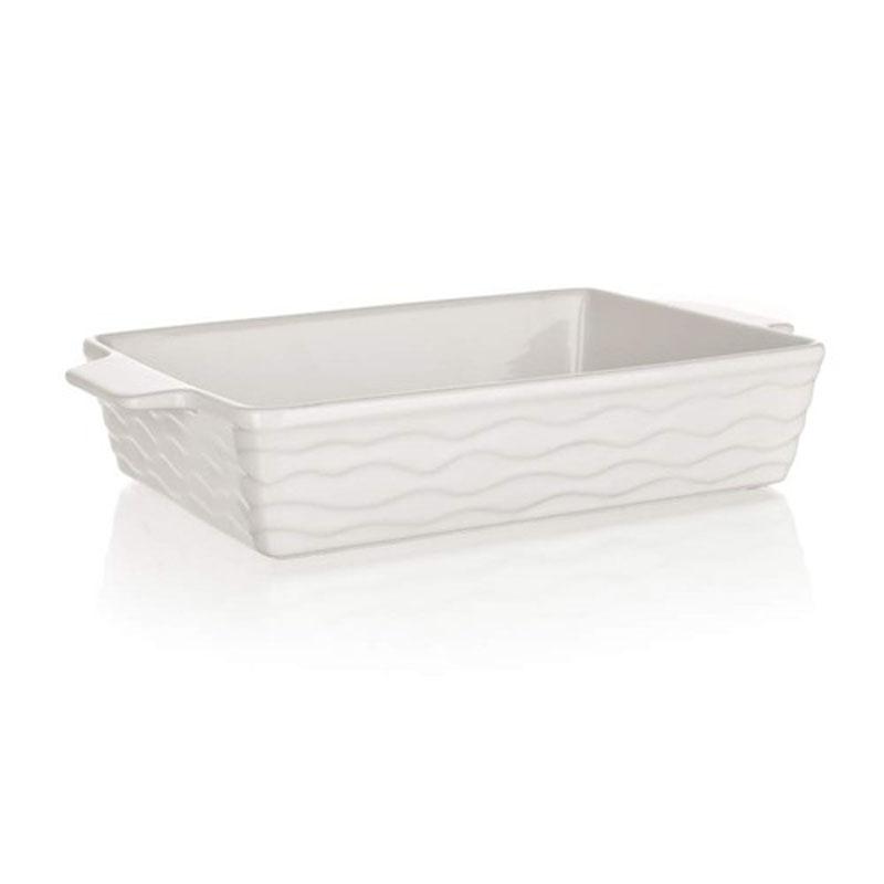 Форма для запекания Banquet, прямоугольная, цвет: белый, 33 х 21 см60ZF04Функциональная прямоугольная форма, красивый внешний вид - можно использовать для запекания, а также для сервировки стола. Керамическая форма для запекания, имеет прямоугольную форму 33*21см, цвет белый.
