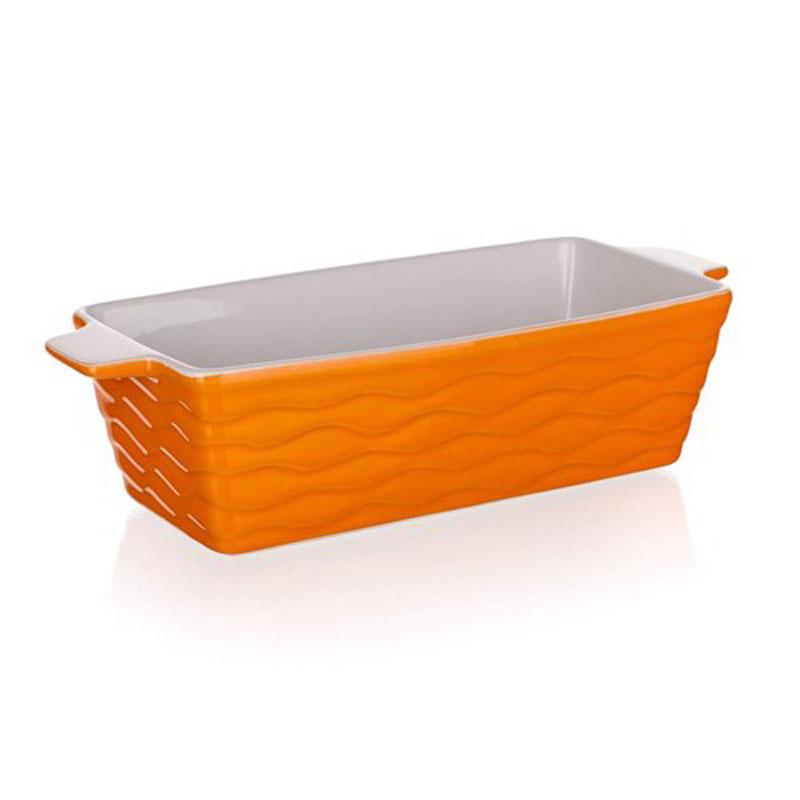 Форма для запекания Banquet, прямоугольная, цвет: оранжевый, 29,5 х 12,5 см60ZF11Функциональная прямоугольная форма, красивый внешний вид - можно использовать для запекания, а также для сервировки стола. Керамическая форма для запекания, имеет прямоугольную форму 29,5*12,5см, цвет оранжевый.