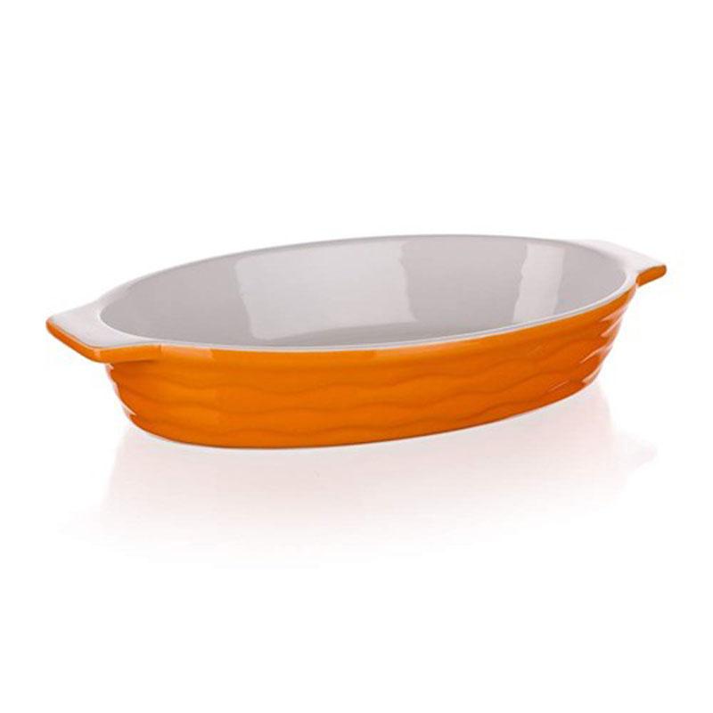 Форма для запекания Banquet, овальная, цвет: оранжевый, 26 х 14 см
