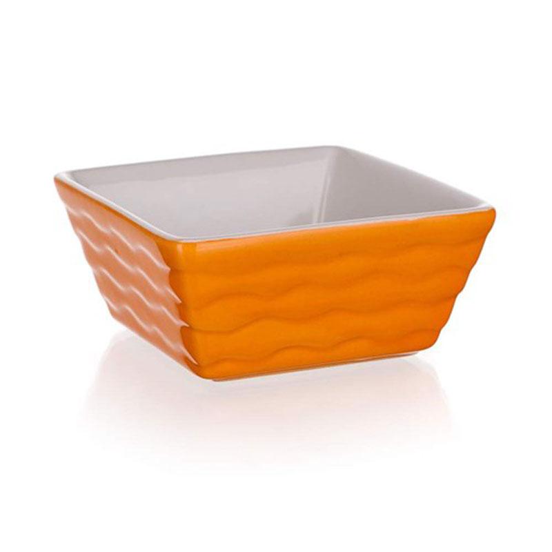 Форма для запекания Banquet, квадратная, цвет: оранжевый, 9,5 х 9,5 см60ZF16Функциональная квадратная форма, красивый внешний вид - можно использовать для запекания, а также для сервировки стола. Керамическая форма для запекания, имеет квадратную форму 9,5*9,5см, цвет оранжевый