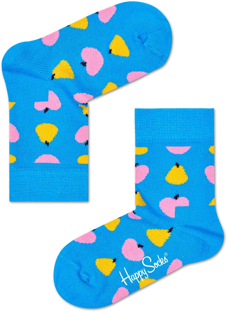 Носки детские Happy socks, цвет: голубой, мультиколор. KFRU01. Размер 20, 7-9 лет