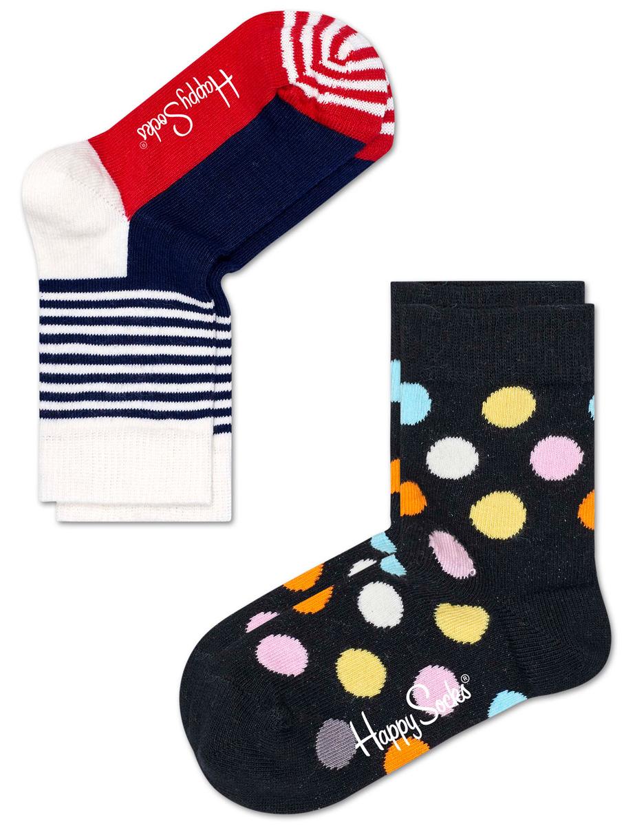 Комплект носков Happy socks, цвет: мультиколор. KBDO02. Размер 14, 1-2 годаKBDO02Носки Happy Socks, изготовленные из высококачественного материала, дополнены принтом. Эластичная резинка плотно облегает ногу, не сдавливая ее. Усиленная пятка и мысок обеспечивают надежность и долговечность. В комплект входят две пары носков.