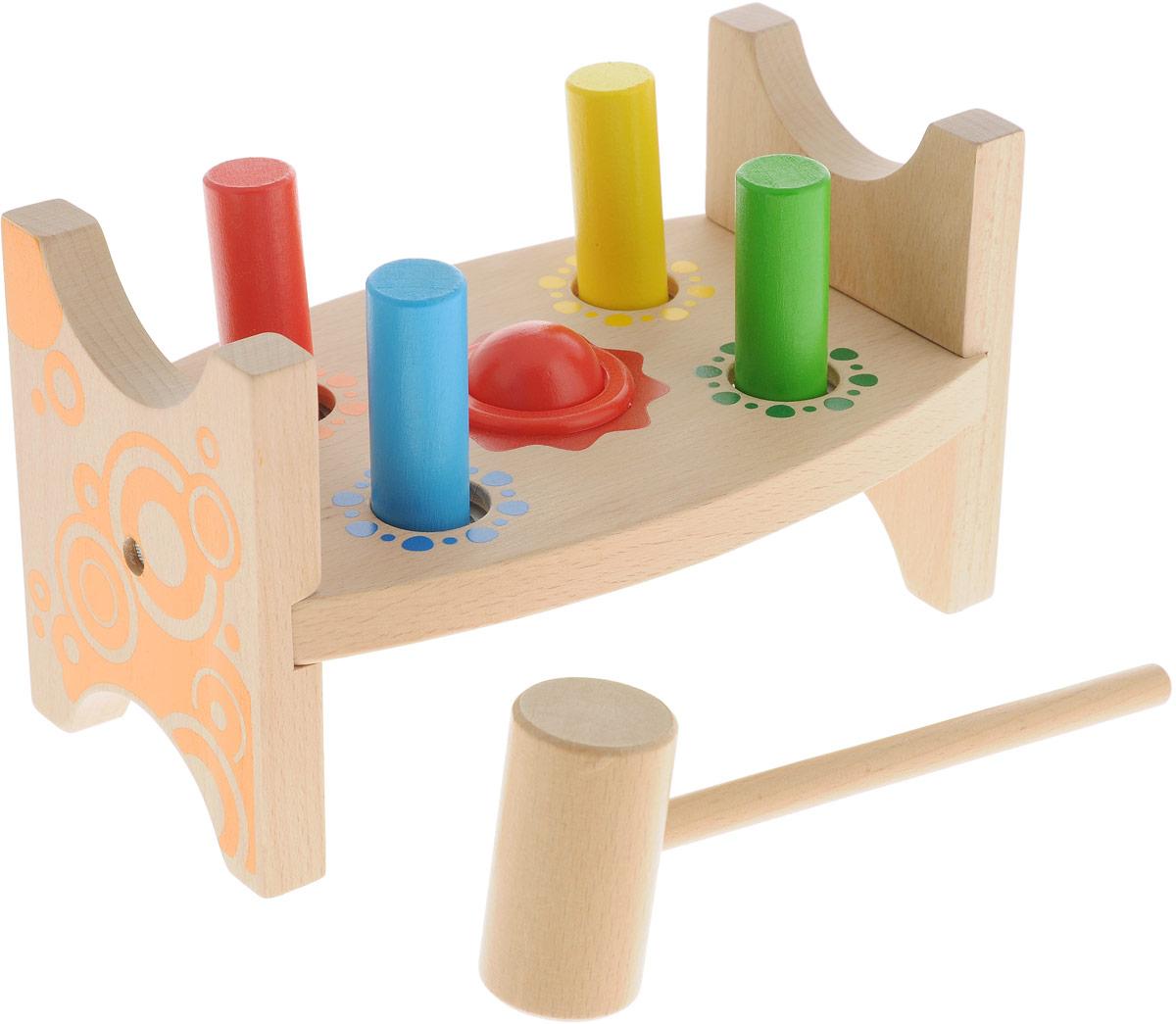Мир деревянных игрушек Развивающая игрушка Стучалка Шарик  гвоздики