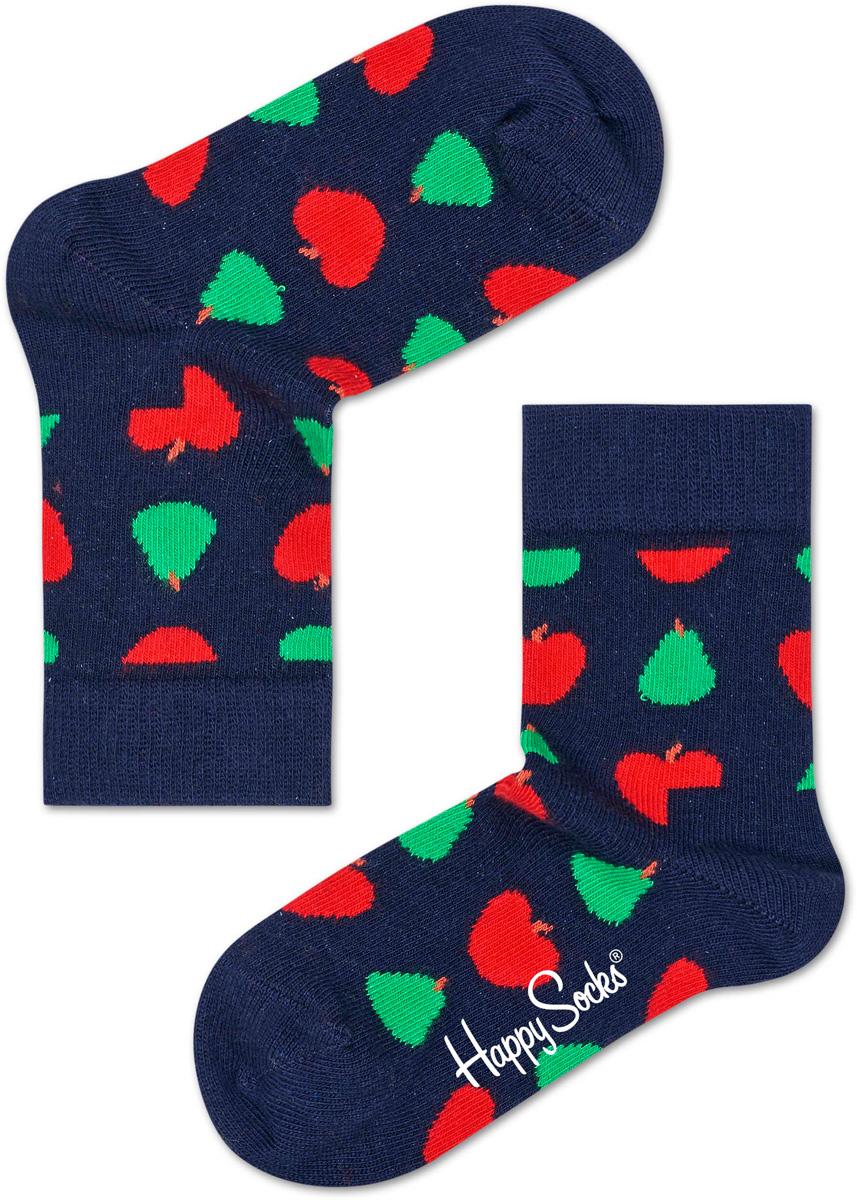 Носки детские Happy socks, цвет: темно-синий, мультиколор. KFRU01. Размер 20, 7-9 лет