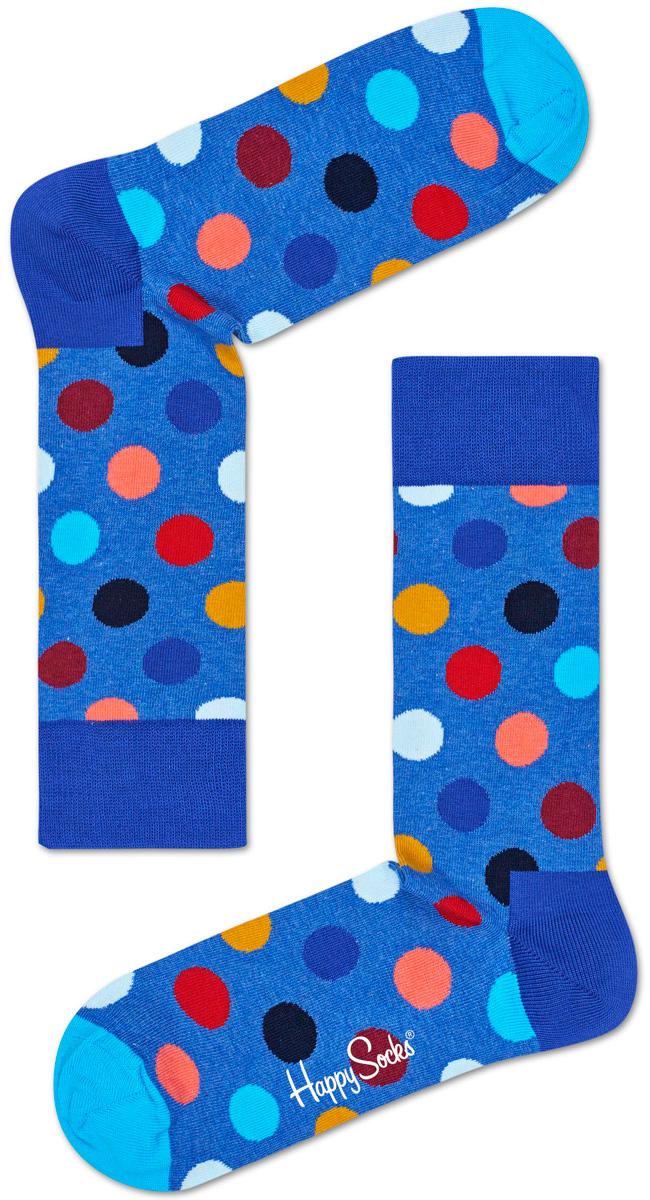 Носки женские Happy socks, цвет: голубой, мультиколор. BDO01. Размер 25BDO01Носки Happy Socks, изготовленные из высококачественного материала, дополнены принтом. Эластичная резинка плотно облегает ногу, не сдавливая ее. Усиленная пятка и мысок обеспечивают надежность и долговечность.