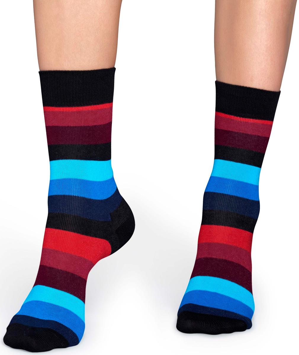 Носки женские Happy socks, цвет: черный, мультиколор. SA01. Размер 29SA01Носки Happy Socks, изготовленные из высококачественного материала, дополнены принтом. Эластичная резинка плотно облегает ногу, не сдавливая ее. Усиленная пятка и мысок обеспечивают надежность и долговечность.