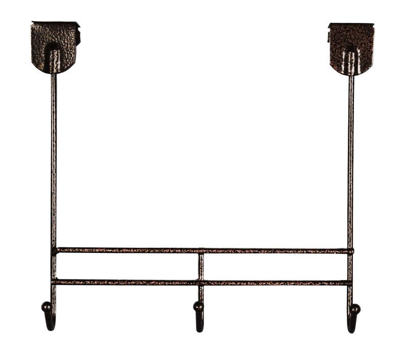 Вешалка надверная ЗМИ Нота 3, металическая, цельносварная, три крючка, цвет: медный антик