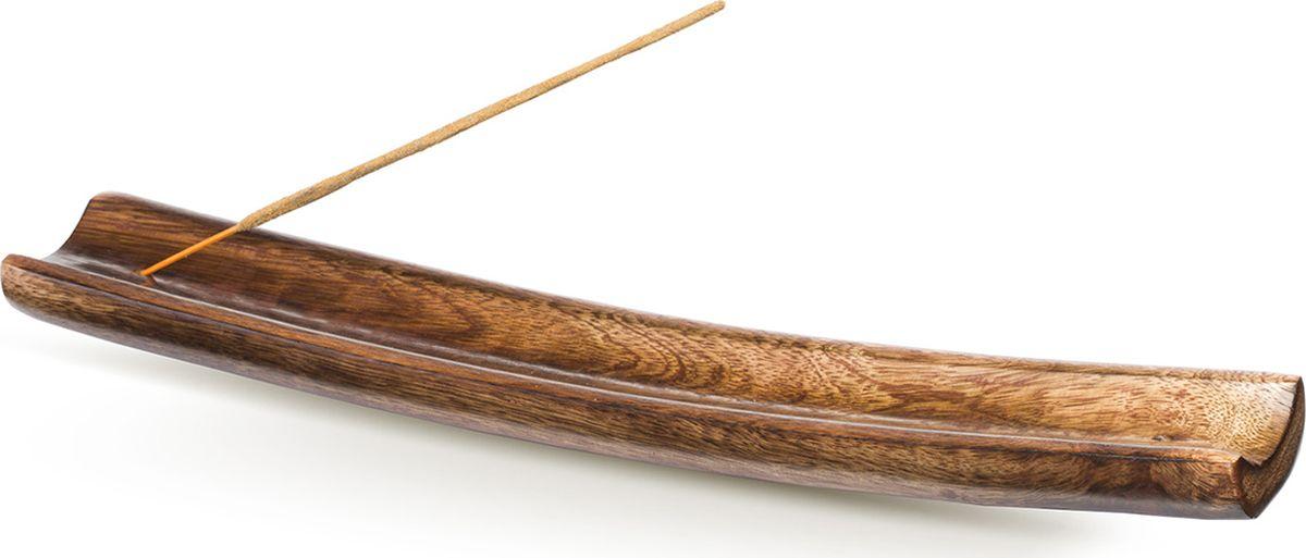 Подставка для ароматических палочек Sitara ЛодкаР-3Элегантная массивная подставка под благовония из мангового дерева в виде лодки.