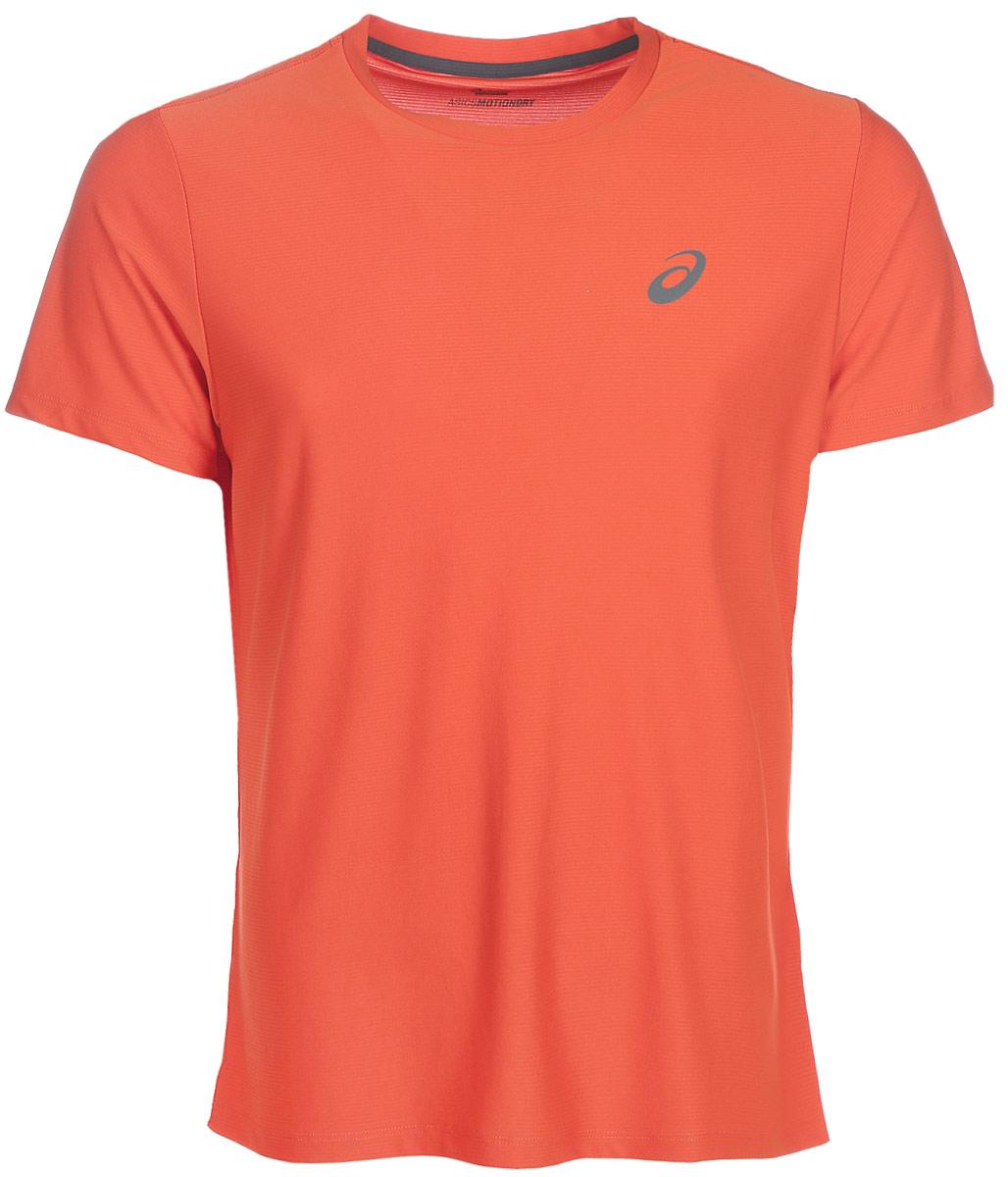 Футболка для бега мужская Asics SS Top, цвет: коричневый. 134084-0516. Размер XXL (56)134084-0516Стильная мужская футболка для бега Asics SS Top, выполненная из высококачественного полиэстера, обладает высокой воздухопроницаемостью и превосходно отводит влагу от тела, оставляя кожу сухой даже во время интенсивных тренировок. Такая футболка великолепно подойдет как для повседневной носки, так и для спортивных занятий.Модель с короткими рукавами и круглым вырезом горловины - идеальный вариант для создания модного современного образа. Футболка оформлена светоотражающим логотипом на груди и контрастной полоской на спинке. Такая футболка идеально подойдет для занятий спортом и бега. В ней вы всегда будете чувствовать себя уверенно и комфортно.