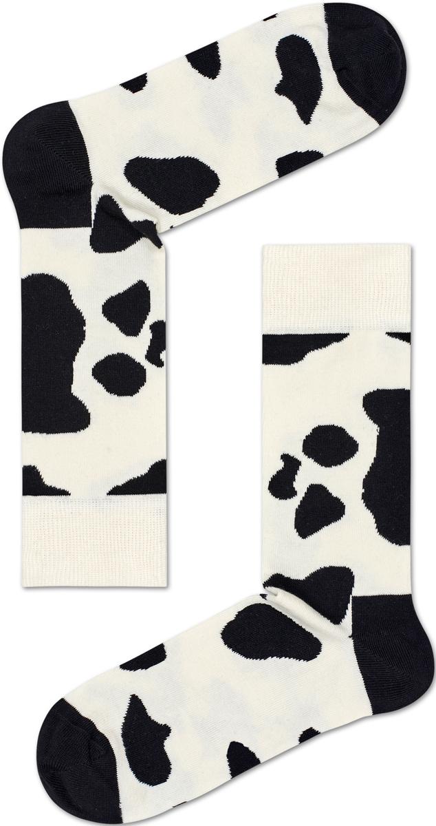 Носки женские Happy socks, цвет: белый, черный. CO01. Размер 25CO01Носки Happy Socks, изготовленные из высококачественного материала, дополнены принтом. Эластичная резинка плотно облегает ногу, не сдавливая ее. Усиленная пятка и мысок обеспечивают надежность и долговечность.