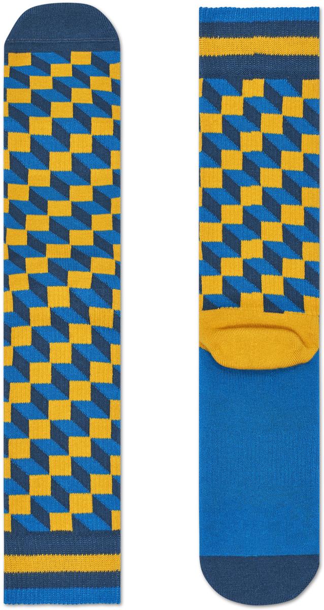 Носки женские Happy socks, цвет: бирюзовый, желтый. ATFIO27. Размер 25ATFIO27Носки Happy Socks, изготовленные из высококачественного материала, дополнены принтом. Эластичная резинка плотно облегает ногу, не сдавливая ее. Усиленная пятка и мысок обеспечивают надежность и долговечность.