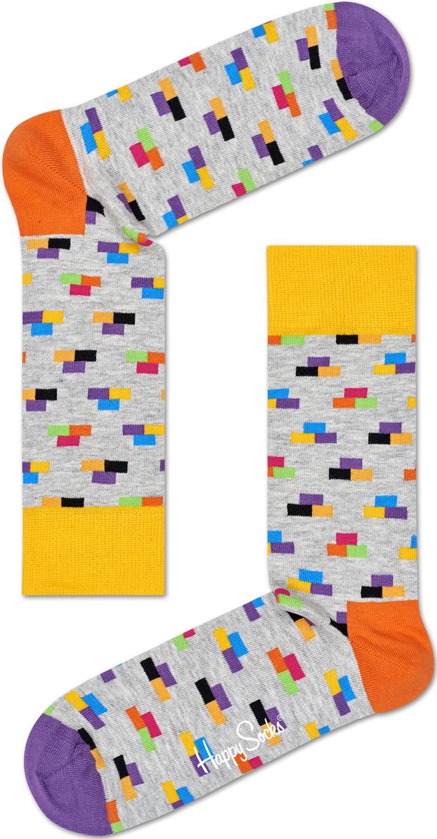 Носки женские Happy socks, цвет: светло-серый, мультиколор. BRI01. Размер 25BRI01Носки Happy Socks, изготовленные из высококачественного материала, дополнены принтом. Эластичная резинка плотно облегает ногу, не сдавливая ее. Усиленная пятка и мысок обеспечивают надежность и долговечность.