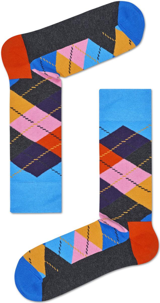 Носки женские Happy socks, цвет: серый, мультиколор. ARY01. Размер 25ARY01Носки Happy Socks, изготовленные из высококачественного материала, дополнены принтом. Эластичная резинка плотно облегает ногу, не сдавливая ее. Усиленная пятка и мысок обеспечивают надежность и долговечность.